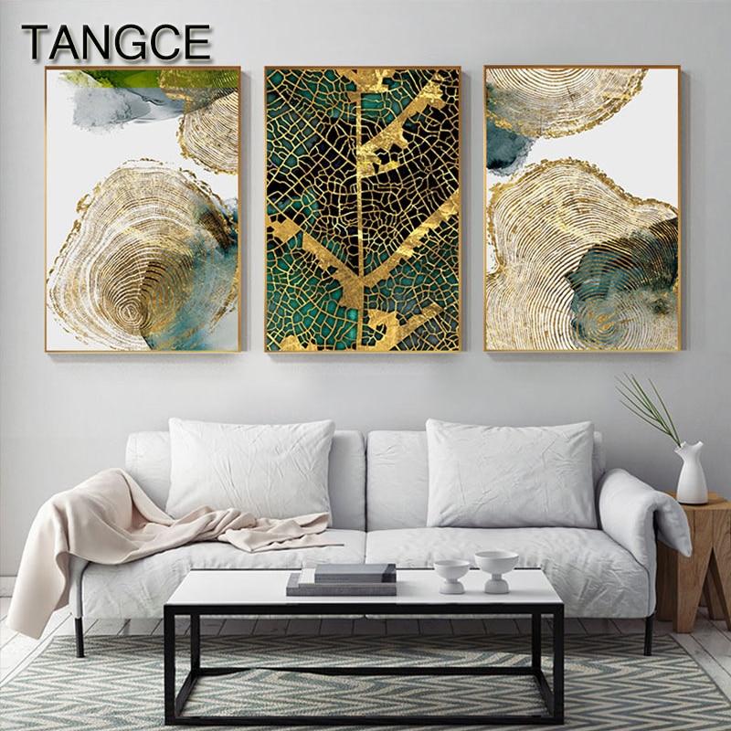 Abstrato folha de ouro veia pintura tableaux grande cartaz impressão hd arte da parede para sala estar entrada corredor cuadros salão decoracion