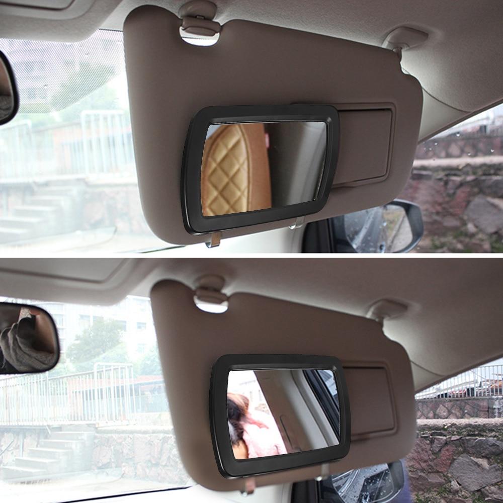 Espejo para visera de coche Universal, espejo cosmético para maquillaje, sombra de sol, espejo de tocador, espejo de maquillaje para automóvil con seis luces LED