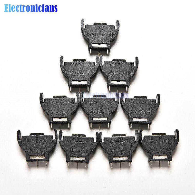 10PCS CR2032 2032 3V Cell-münze Batterie Sockel Inhaber Fall