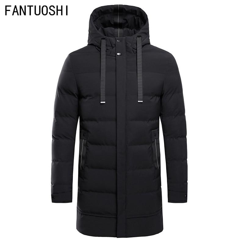 Parka de alta calidad, Chaqueta larga de invierno para hombre, chaqueta gruesa acolchada de algodón con capucha, abrigo Parka para hombre, abrigos casuales de moda para hombre, 4XL
