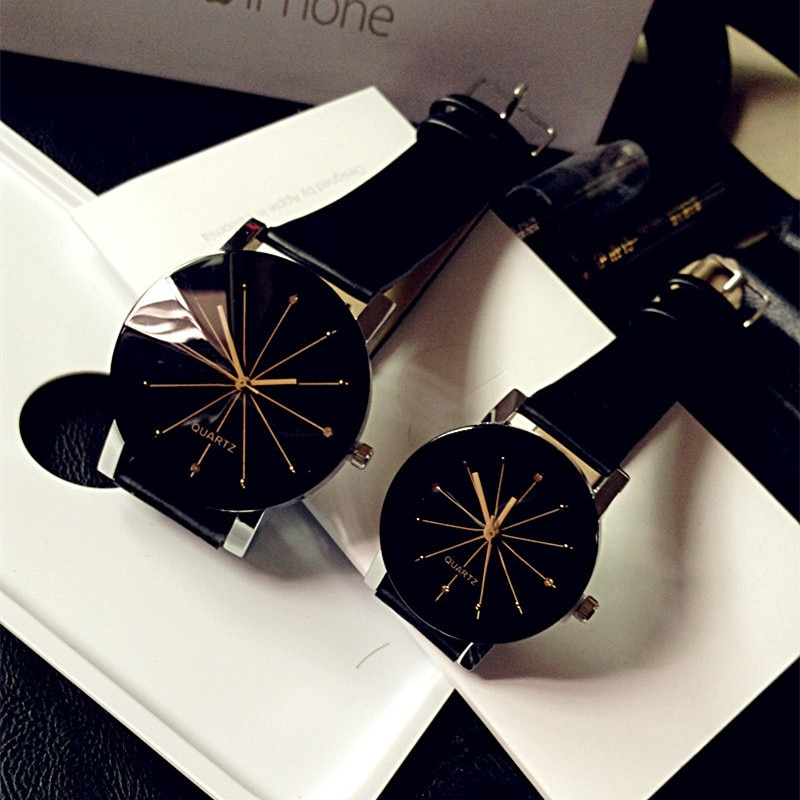 Relogio Feminino Fashion luxury Couple Quartz Watch Dial Hour Digital Women Watches Men Leather Wris