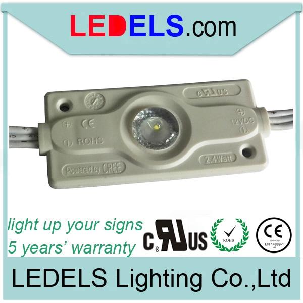 5 años de garantía de alta calidad 12 v 2,4 W 200LM de alta potencia de luz de fondo led módulo ul listados luces led blancas para pantalla caso