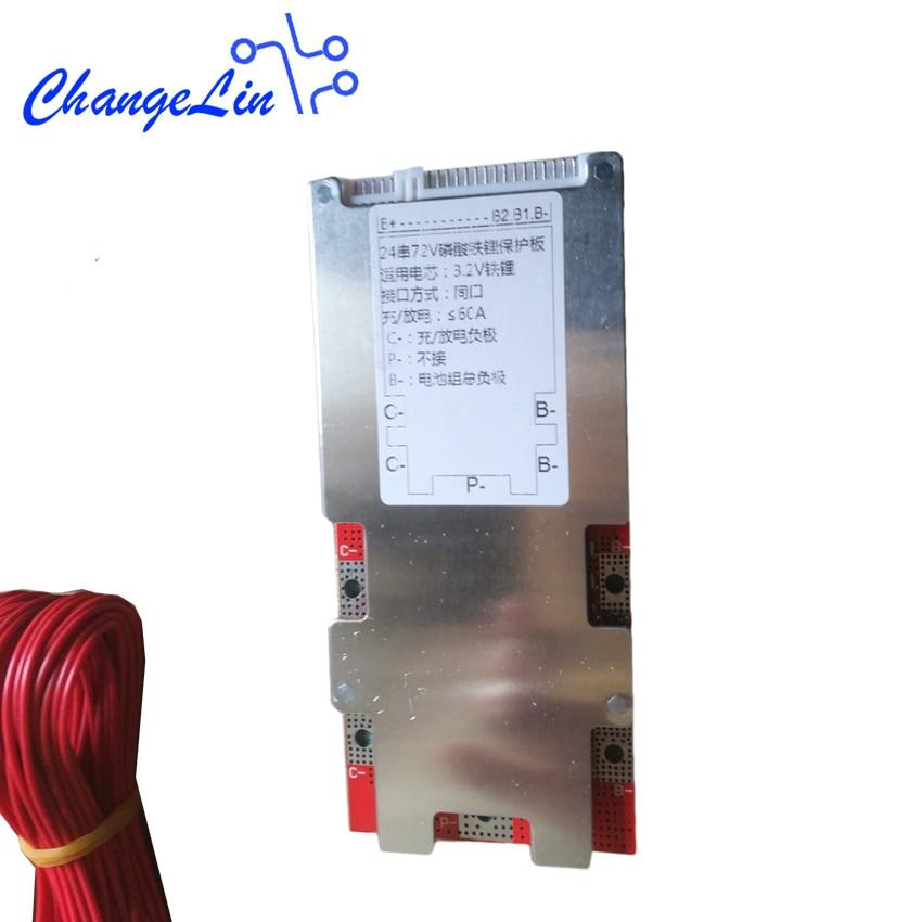 20S 60V 24S 72V Lifepo4 de litio Li-Ion BMS Placa de protección de batería circuito 60A 150A 3,2 V Kits de bricolaje paquetes módulo para Ebike EV