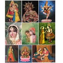 Diamant mosaïque vente hindou éléphant tronc diamant peinture religion photos de strass diamant peinture complet rond perles