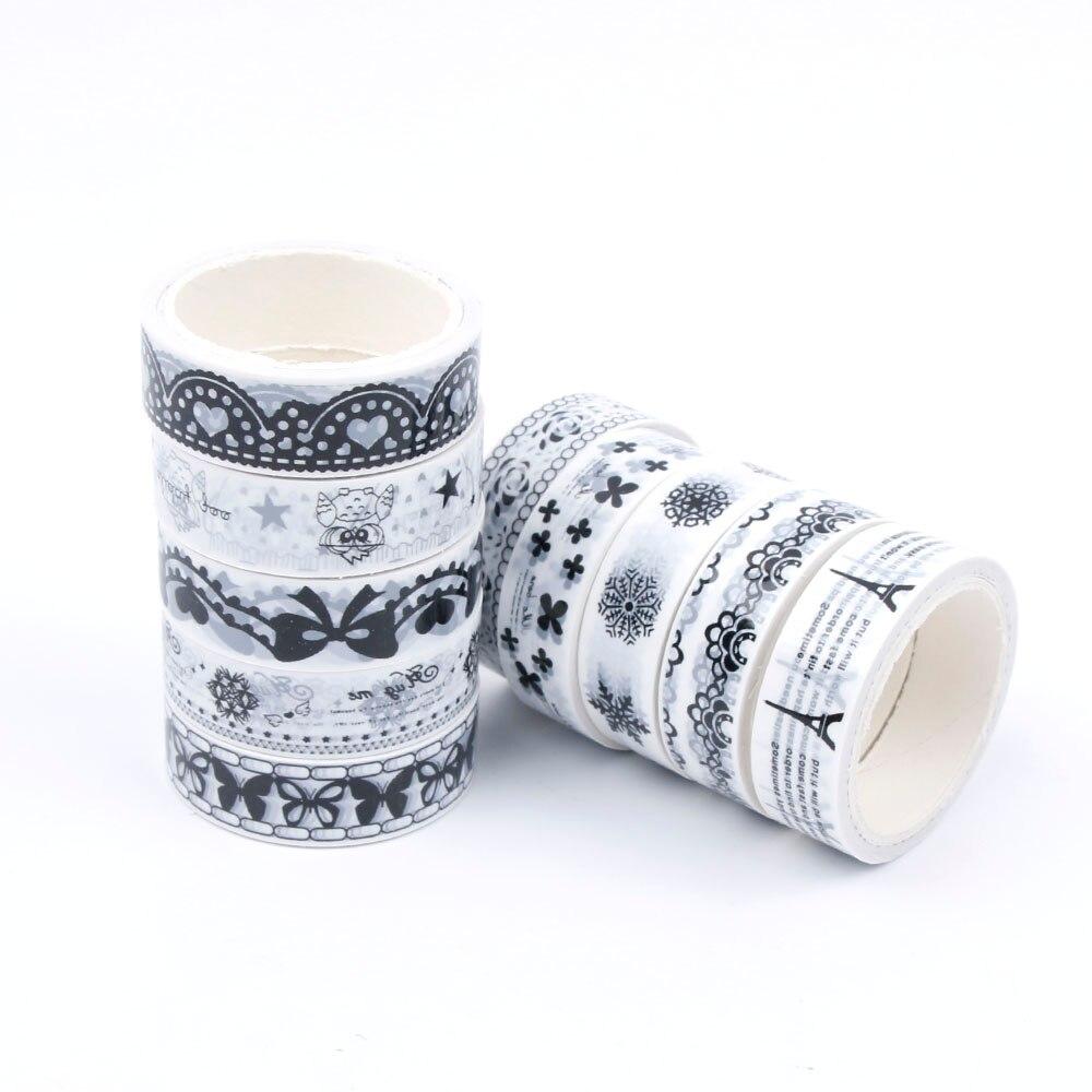 Standok 10pcs Personality Roll DIY Washi Paper Decorative Sticky Paper Masking Tape Self