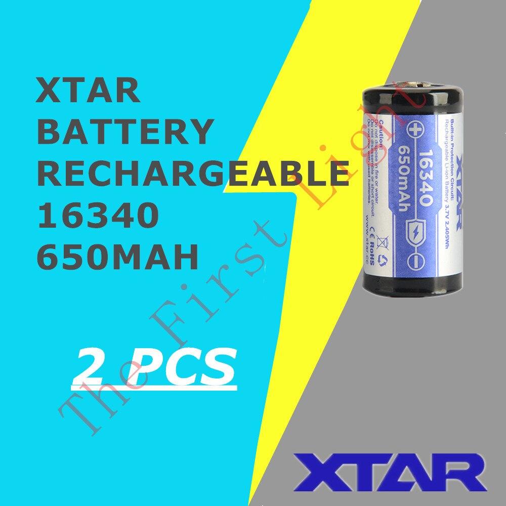 2 шт. литиевый XTAR 16340 650 mAh 3,6 V Защищенный Литий-ионный аккумулятор от MC1 MC2 PB2 VC2 VC4 SV2 VP4 plus MC6 зарядное устройство