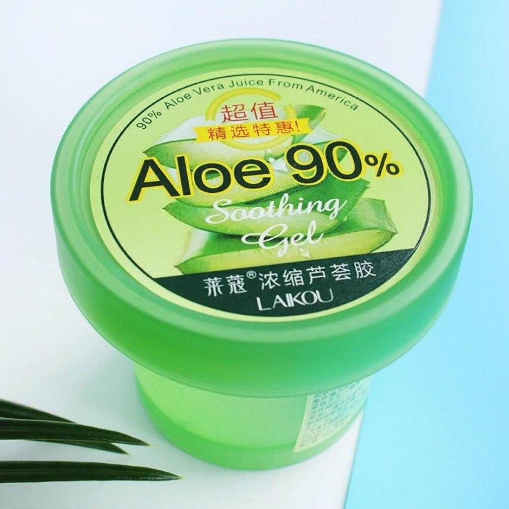 Laikou natural aloe vera gel remoção do enrugamento hidratante acne tratamento remoção da cicatriz após loções de sol creme dia cuidados com a pele 120g