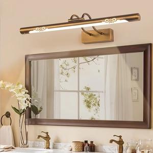 2019 New Stainless Steel LED Mirror Headlight Bathroom Toilet Moisture-proof Simple Fashion Bedroom Mirror Cabinet Wall Lamp