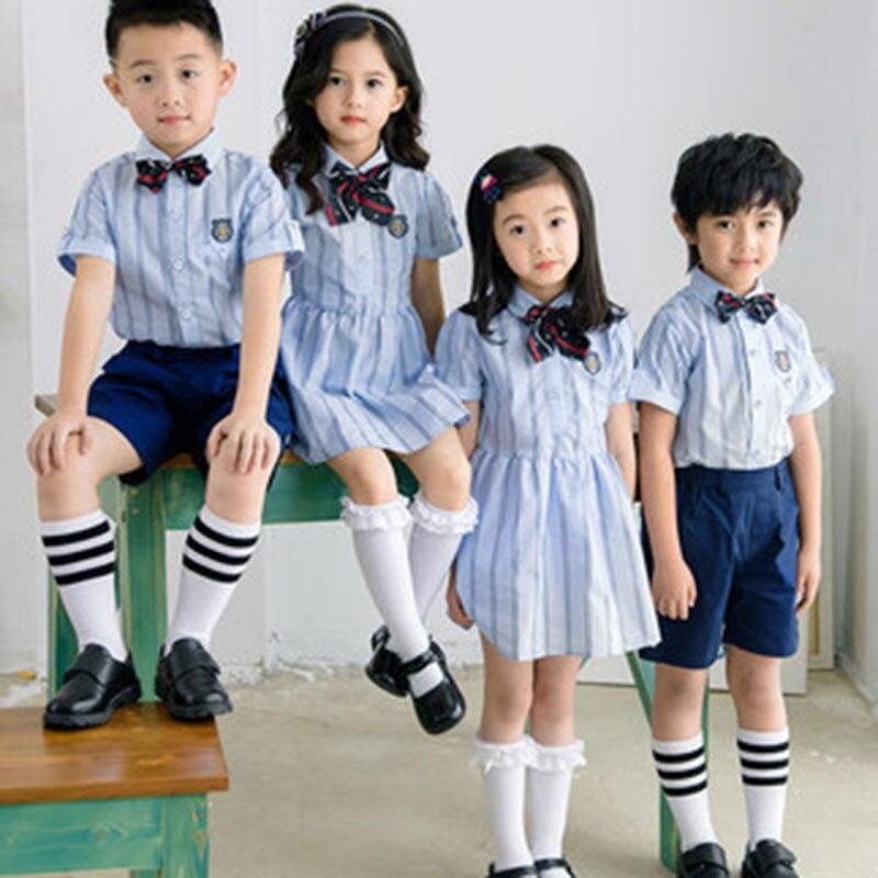 Служба начальной школы Летняя школа ветер юньюнь фото выпускного детского сада Детская школьная форма костюм