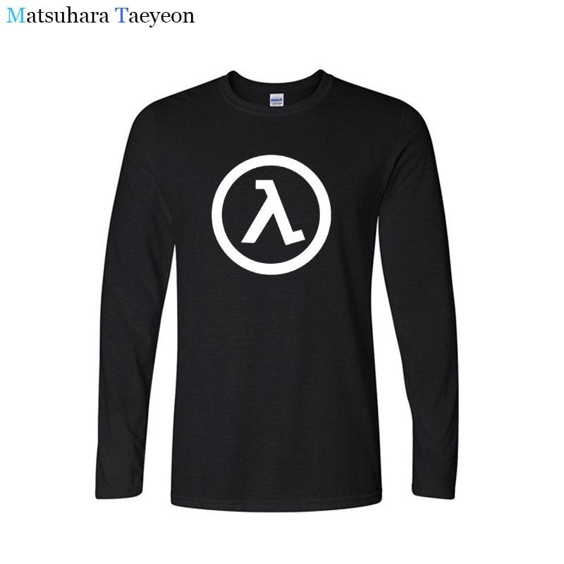 Camiseta Matsuhara Taeyeon de manga larga para hombre, cuello redondo, evolución Half Life, cuello redondo, Camisetas estampadas de algodón