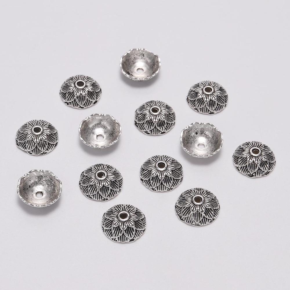 Круглые тибетские наконечники для цветов, 20 шт., 12 мм