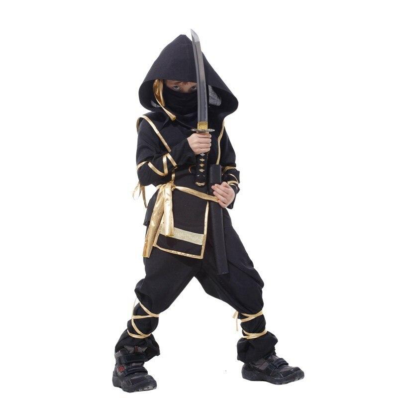 Kids Dragon Ninja Cosplay Costumes Birthday Carnival Party Boys Warrior Stealth Fancy Costumes