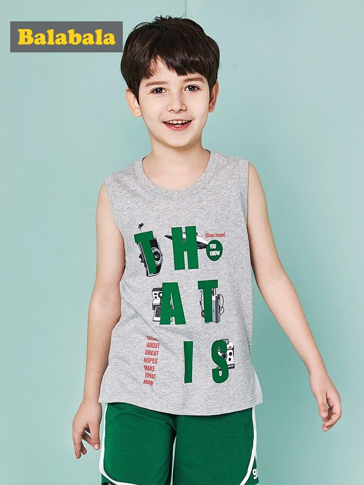 Balabala/топы для маленьких мальчиков и девочек детский жилет Летний без рукавов