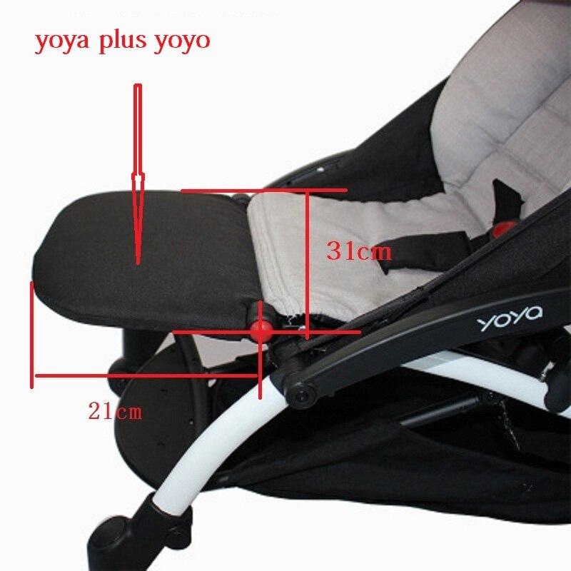 Nuevos accesorios de cochecito de bebé Universal para Babyzenes Yoyo Yoya YuYu reposapiés carritos infantiles de 15cm o 21cm