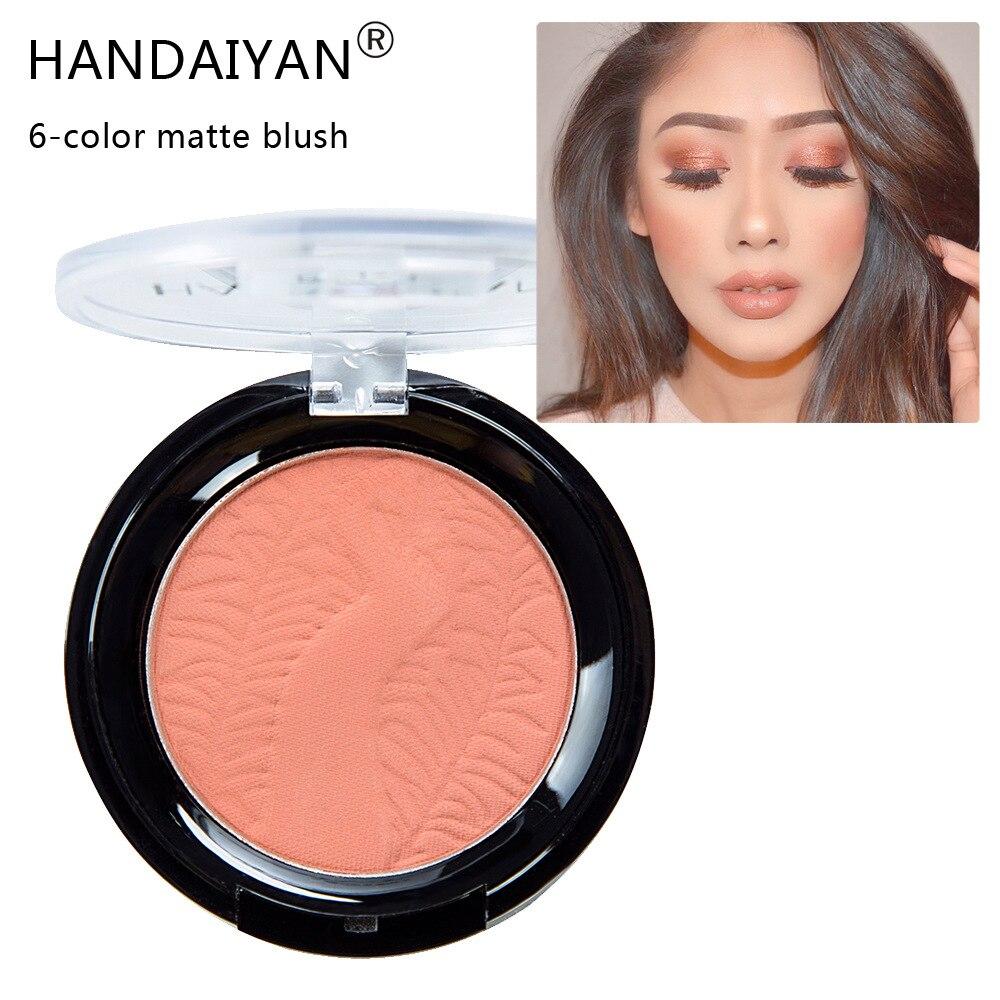 6 cores natural rosto blush paleta profissional matte maquiagem blush rosto contorno pó para mulheres bochecha imprensa pó fundação