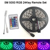 Olmayan su geçirmez RGB 5050 3528 LED şerit ışık 5m 300 leds 60LEDs/M ruban led bant diyot 24Key/44 anahtar/müzik uzaktan kumanda
