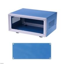 Boîtier métallique bleu coffret de projet bricolage   Boîte de jonction 6.7