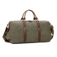 M313 Neue Mens Leinwand Leder Reisetaschen Tragen auf Gepäck Handtaschen Big Reisen Duffel Taschen Tote Große Wochenende Tasche Übernachtung