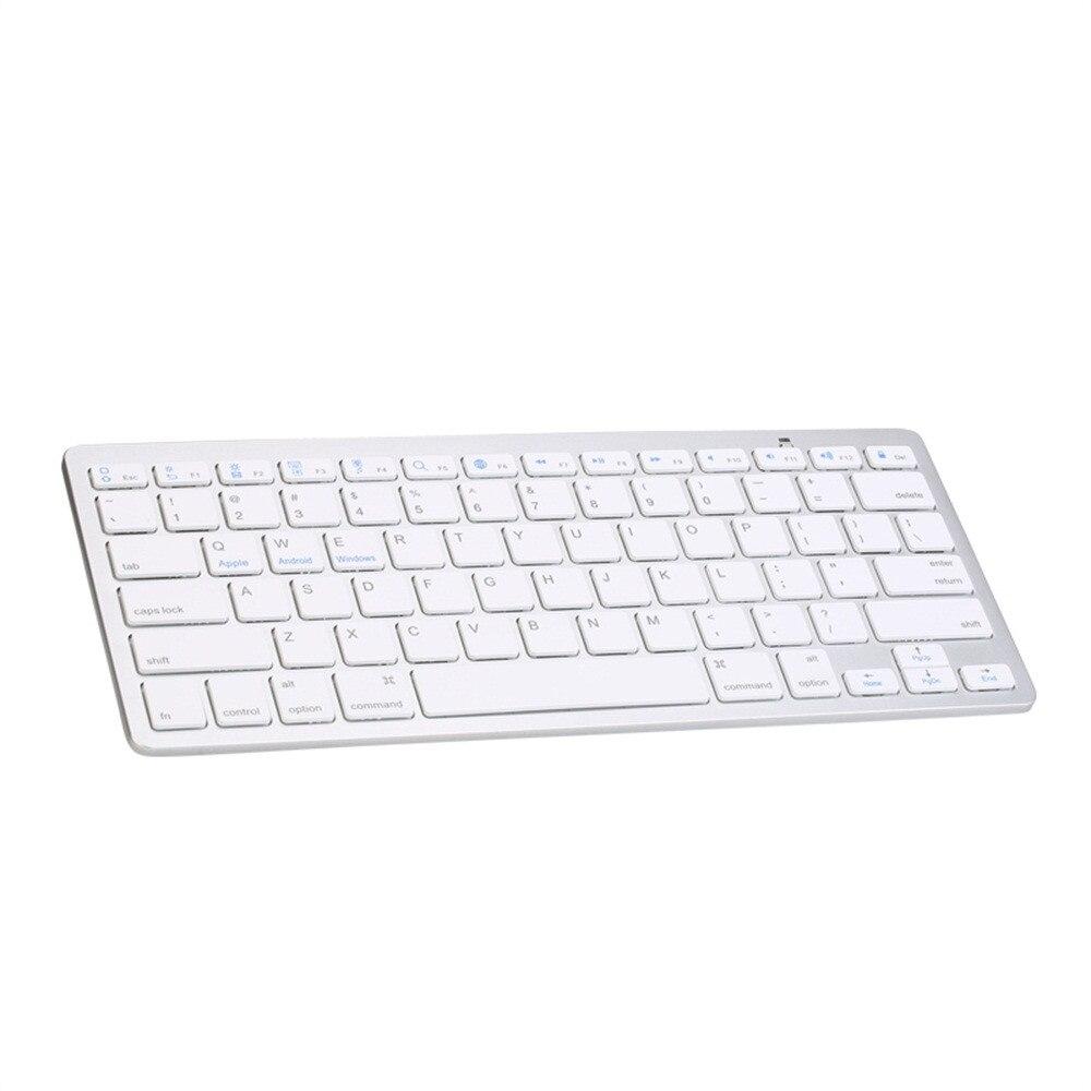 VOBERRY, nuevo teclado inalámbrico Ultra fino BT 3,0, portátil ultrafino para iMac/iPad/Android/teléfono/Tablet PC