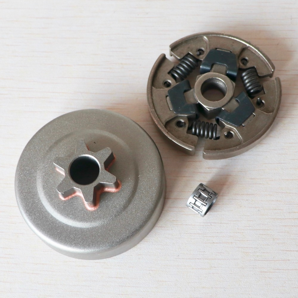 """Tambor de embrague y Kit de embrague de 3/8 """"6T, de rodamiento de agujas para STIHL MS170 MS180, piezas de motosierra"""