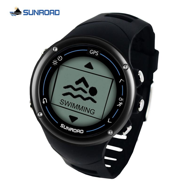 Sunroad GPS smart mannen digitale horloge running sport swim hartslag marathon triathlon training kompas waterdicht horloge