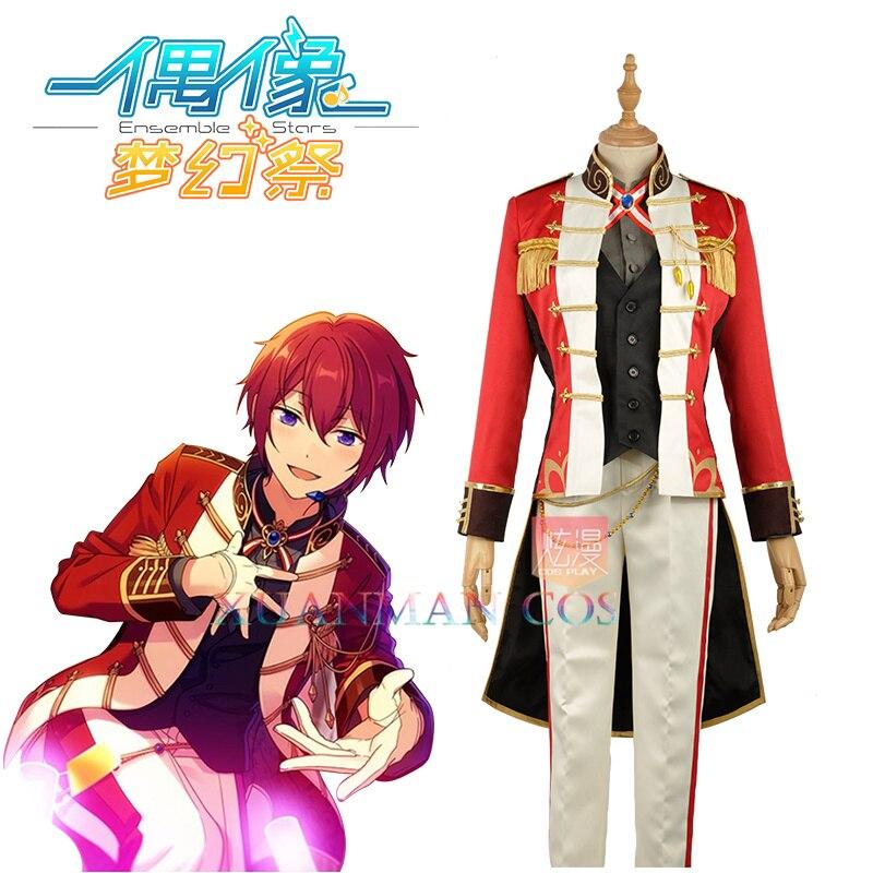 W1160-2 Knights Group Suou Tsukasa escenario Cosplay traje conjunto estrellas personalizado Chaqueta larga pantalones chaleco hombre conjunto completo