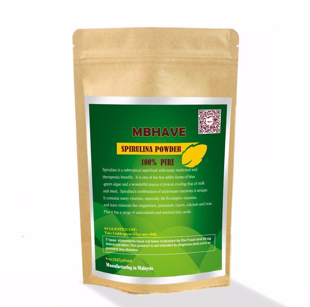 Спирулина порошок 8 унций-100% чистый Премиум питательные-плотные водоросли