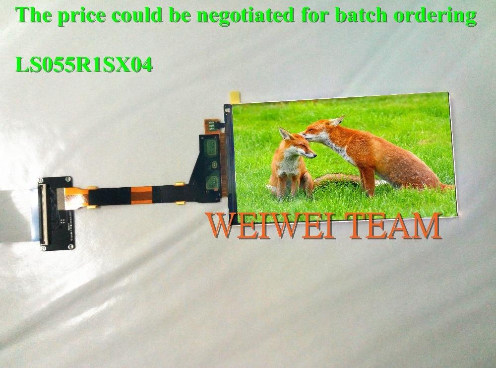 Alta Resolución 5,5 pulgadas 2k 2560*1440 1440P IPS Pantalla de panel LCD TFT LS055R1SX04 para Wanhao duplicador 7 impresora 3D