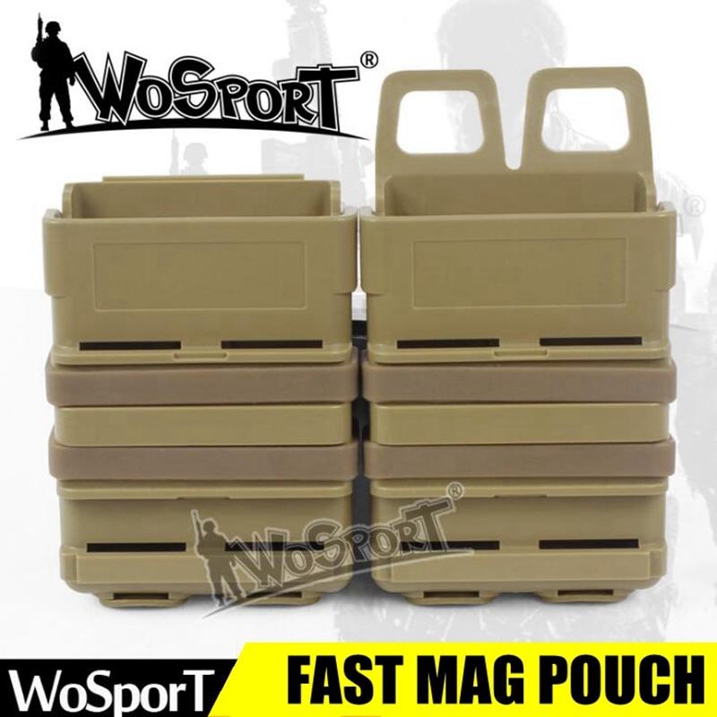 Bolsa de revista rápida de alta calidad Airsoft AR15 M4 5,56 Molle sistema táctico militar Molle Clip revistero casos