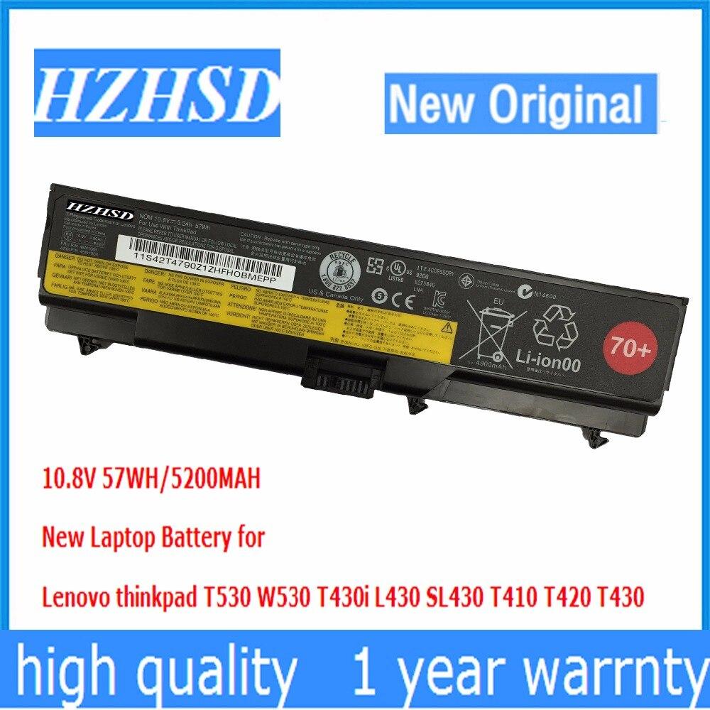 10,8 v 57wh nuevo Original T430 batería del ordenador portátil para Lenovo thinkpad T530 W530 T430i L430 530 SL430 T410 T420 45n1005 45n1004