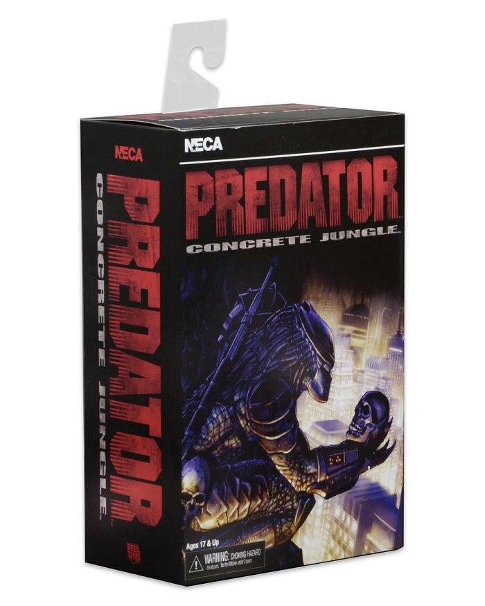 NECA Movie Predator VS Alien Science Monster Toys City Hunter Scarface Predator Concrete Luxurious Edition Action figure Model