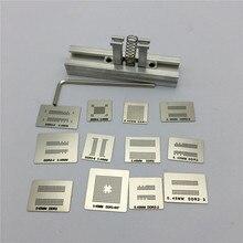 12pcs BGA Directly Heat Rework Reballing Universal Stencil Template + BGA Reballing Kit Station