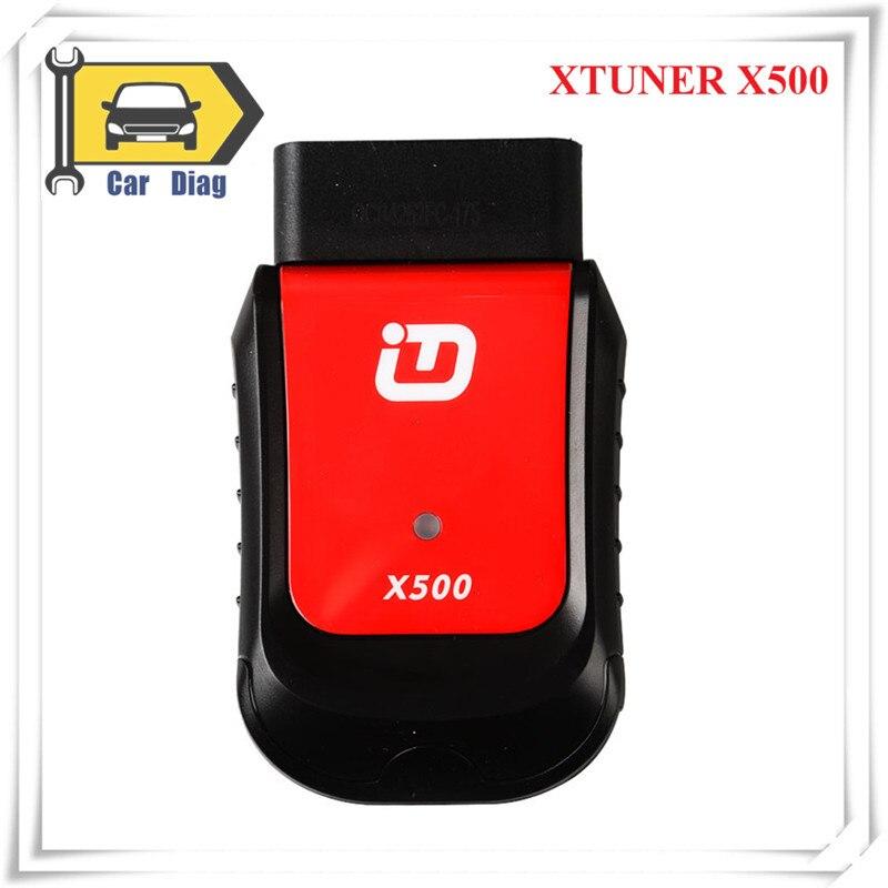 Herramienta de diagnóstico de escáner de coche XTuner X500 Android herramienta de diagnóstico OBDII ABS batería DPF EPB aceite TPMS IMMO llave inyector reinicio