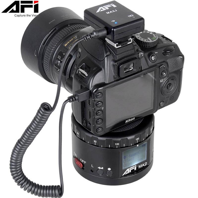 Avi-MA2 360 كاميرا فيديو بفاصل زمني ، دوار ، حامل ثلاثي القوائم LED ، لكانون نيكون سوني DSLR هاتف 360 Gopro Timelapse Panning
