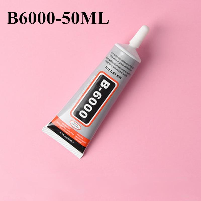 B6000 50ml Super Liquid Glue Multipurpose Adhesive DIY Jewelry Rhinestone Craft Toy Repair Phone Screen Glass Glue Nail Gel Tool