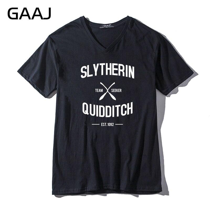 """Slytherin Quidditch Team"" Men & Women Unisex T Shirt Short Sleeve V Neck Tshirt Clothes T Shirts Male Funny Brand Cloth"