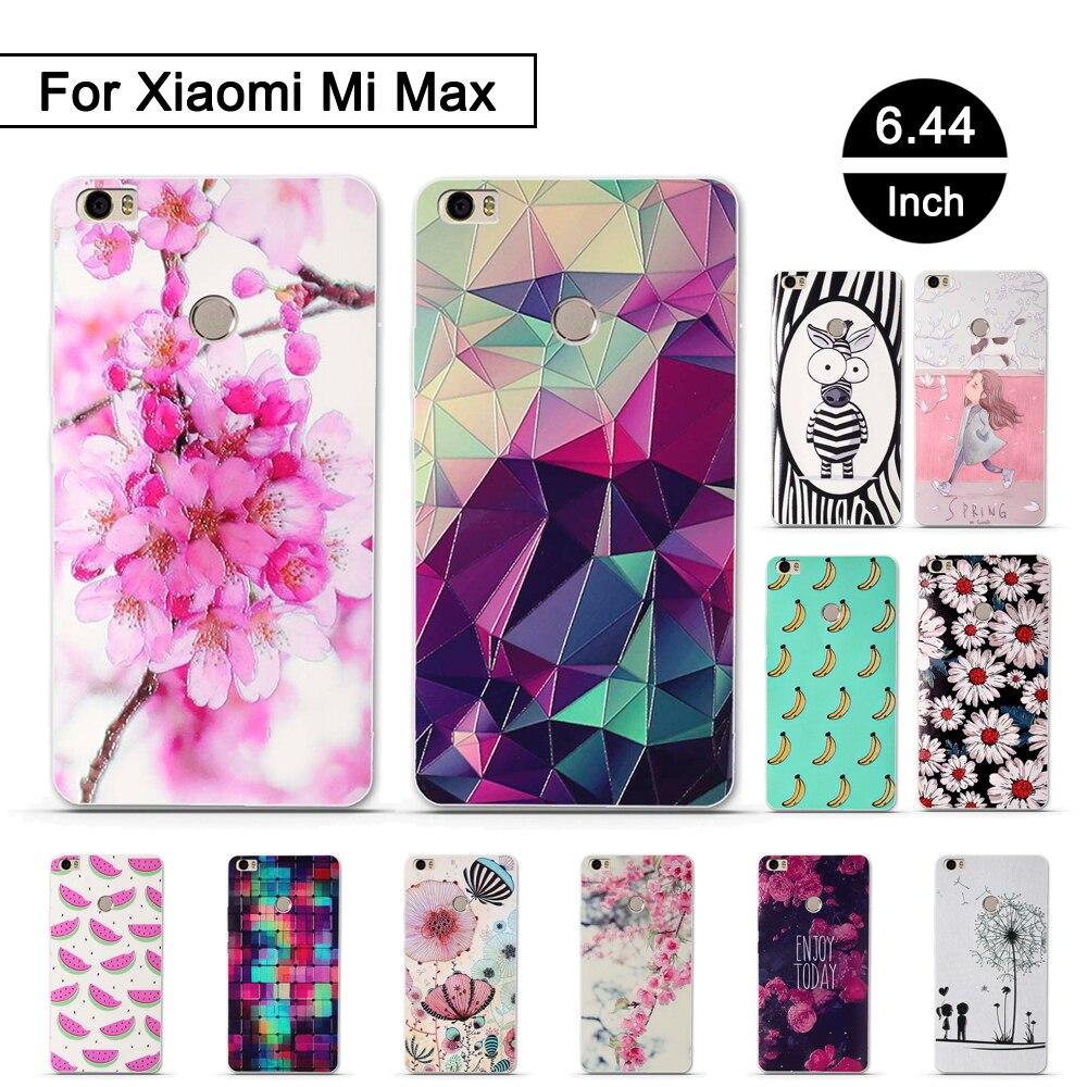 TPU Weiche Fall für Xiaomi Mi Max Telefon Silikon 3D Relief DRUCK Telefon Abdeckung Für Xiaomi mimax Zurück Schalen Fundas Für xiaomi mi max
