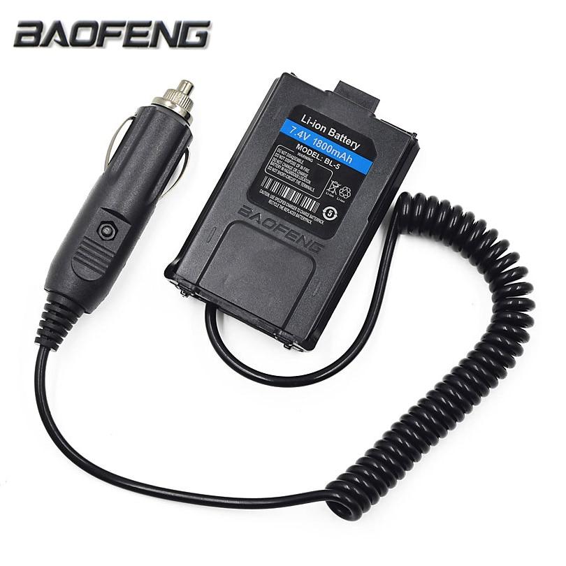 12V BAOFENG UV-5R Car Charger Battery Eliminator Adapter For Portable Radio UV 5R UV-5RE Plus UV-5RA Walkie Talkie Accessories