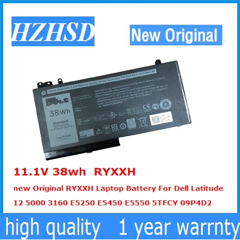 11,1 V 38wh RYXXH nuevo Original RYXXH batería del ordenador portátil para Dell Latitude12 5000 3160 E5250 E5450 E5550 5TFCY 09P4D2