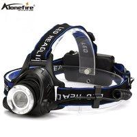 AloneFire HP79 ראש אור קריס XM-L2 LED 5000LM זום פנס נסיעות קמפינג פנס 18650 סוללה נטענת טיול ראש מנורה