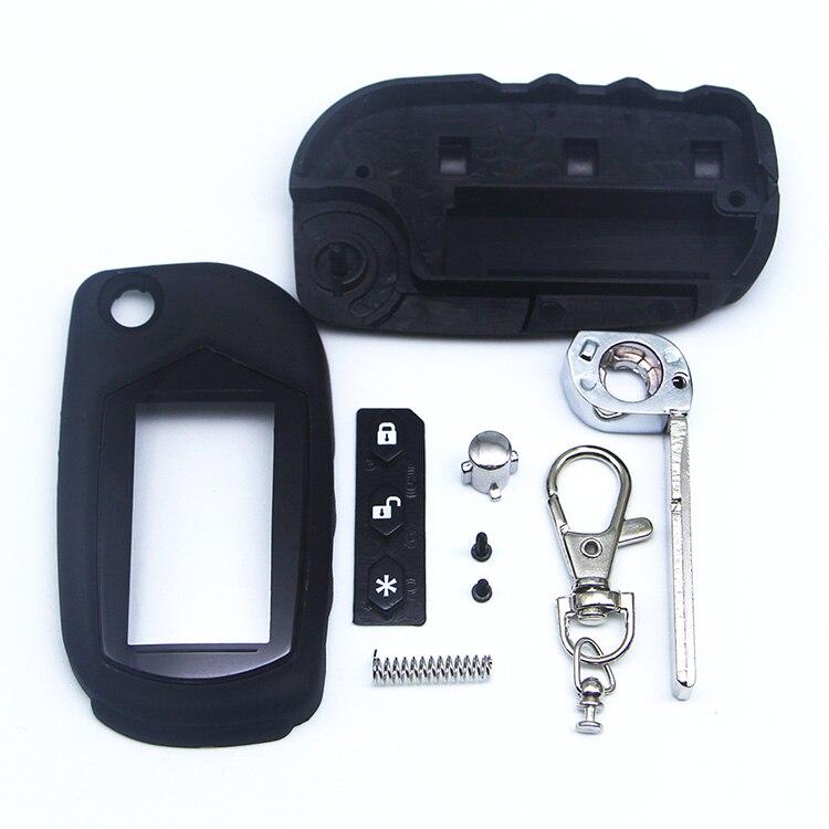 A91 caja sin cortar con vidrio A91 B9 Switchblade carcasa de la llave para Starline A91 B9 A61 B6 hoja sin cortar plegable llave remota