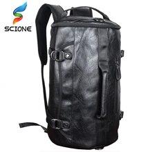 Hot PU cuir Sports de plein air sac de sport pour hommes avec chaussures poche formation sac à dos Fitness sac à bandoulière étanche voyage sac à main