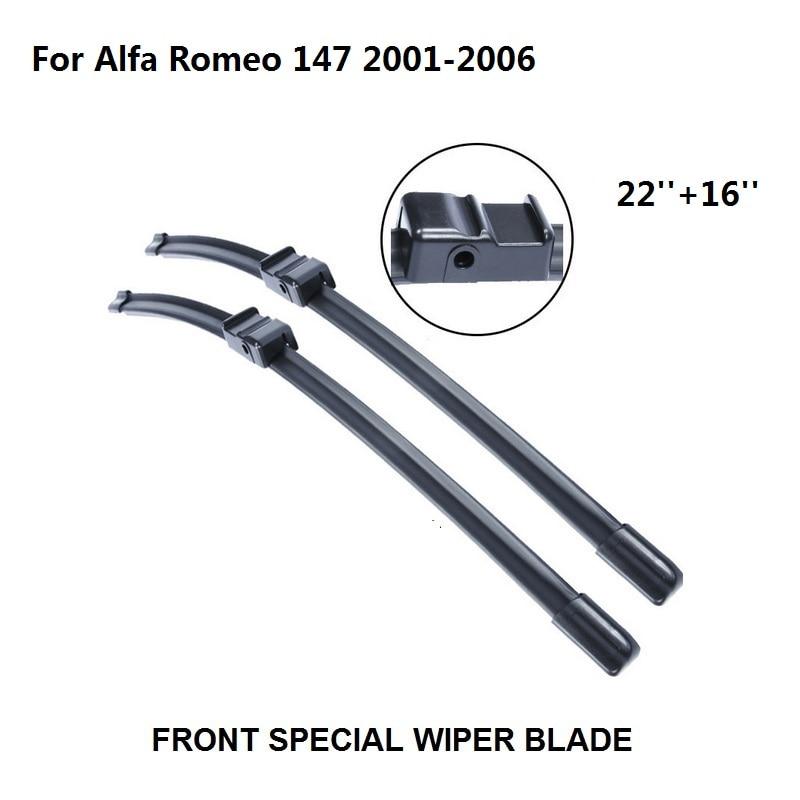 Alfa Romeo Giulietta Alfa Romeo MiTo Alfa Romeo 147 Alfa Romeo Spider 2001-2006 22 + 16 limpiaparabrisas accesorios para Auto Natural de goma limpiaparabrisas