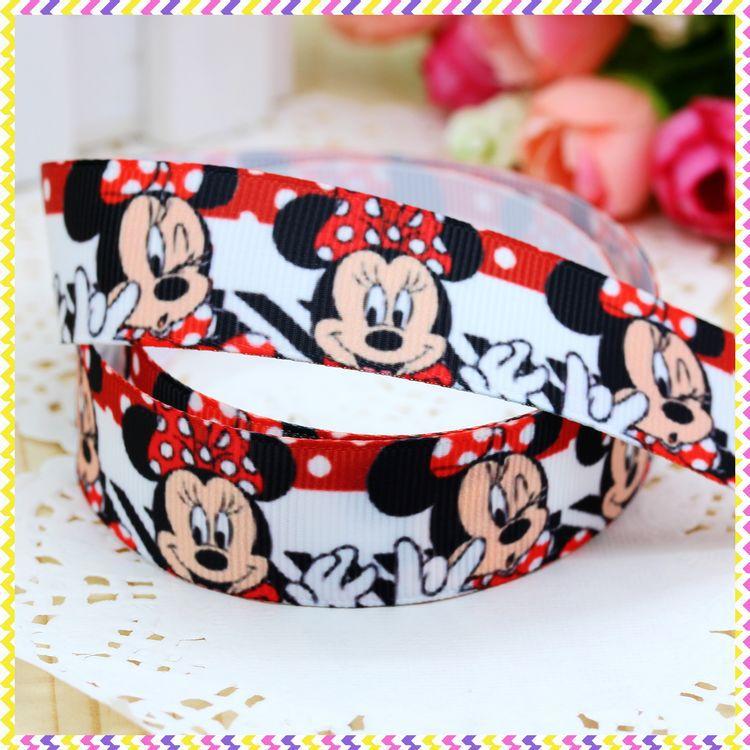 7/8'' Free shipping cartoon printed grosgrain ribbon headwear hair bow diy party decoration wholesale OEM 22mm B460