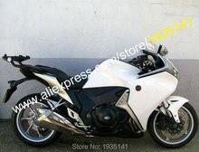 For Honda VFR1200 2010 2011 2012 2013 VFR 1200 10-13 White Black Bodyworks ABS Motorcycle Fairing (Injection molding)