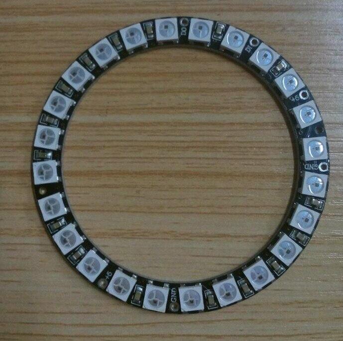 24leds WS2812B RGB direccionable anillo DC5V de entrada; RGB color completo; redondo LED del pixel