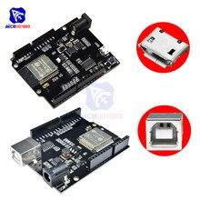 Carte de développement WIFI Bluetooth CH340 WeMos D1 R32 Mini ESP32 pour Arduino UNO R3 WeMos TTGO avec adaptateur type-b/Micro USB 5-12 V