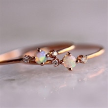 Femmes bague or Rose dames strass Cube anneau de mode cristal élégant bague de fiançailles mince Zircon Style minimaliste cadeau