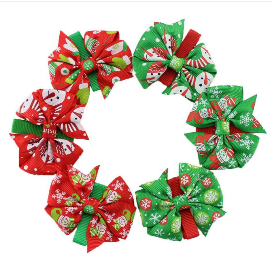 مشابك شعر الكريسماس ، 300 قطعة ، صناعة يدوية ، ندفة الثلج ، حلوى ، هولي
