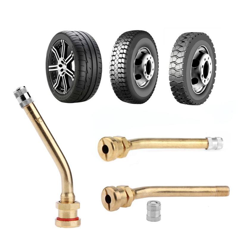 VODOOL, válvula de aire de latón para neumático de vehículo, vástago para v3.20,4, llantas de aluminio con orificio de 9,7mm para neumático de coche, camión, motocicleta, accesorios